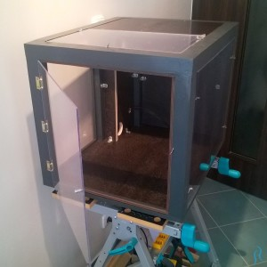 Completed enclosure before 3D printer installation