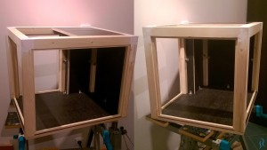 Completed frame of the 3D printer enclosure