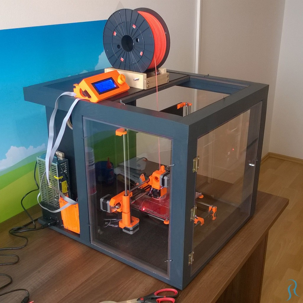 Prusa i3 3D printer enclosure completed