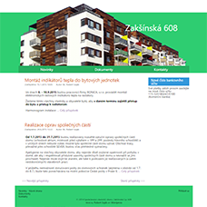 Web for owners & tenants of building Zakšínská 608